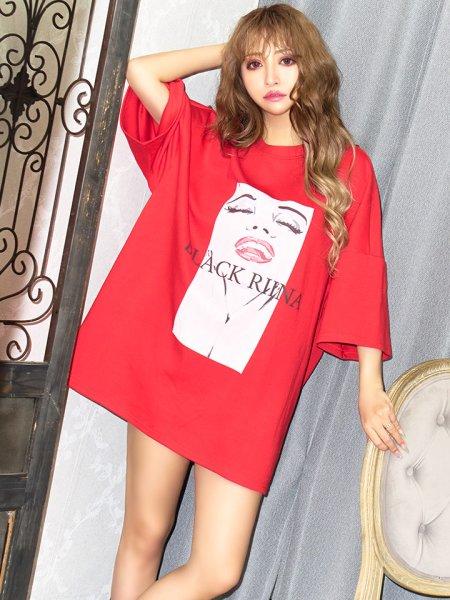 画像1: レディプリントTシャツ (1)